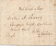Nederland - 1811 - P:A: Op Complete Vouwbrief Van Hoorn Naar Den Helder - Niederlande