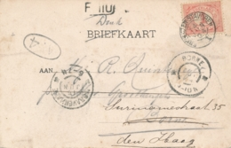 Nederland - 1904 - Kleinrond Boot Stempel ENKHUIZEN-STAVOREN Op Ansicht (Veerboot Friesland) Naar Den Haag / Borne - Poststempels/ Marcofilie
