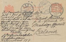 Nederland - 1922 - 12,5 Cent Vürtheim, Briefkaart G193 Van Amsterdam Naar Batavia / Nederlands Indië - Postal Stationery