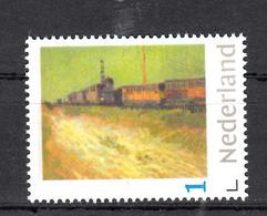 Trein, Train, Locomotive, Eisenbahn : Nederland Persoonlijke Zegel: Spoorwegwagons 1888 Door Vincent Van Gogh - Trains
