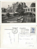 UK Wilding Graphite Lines Issue D.4 Solo Franking B/w PPC St.Ives Cornwall 21jul1960 X Italy - 1952-.... (Elizabeth II)