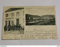 Gruss Aus Wormeldingen. Café L'Amérique - Postcards