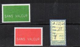 FRANCE - FICTIFS ** N° F239/40 - Ficticios