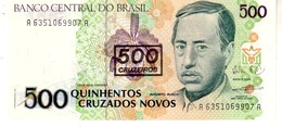 Brazil P.226b 500/500 Cruzeiros 1990 Unc - Brazil