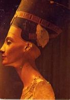 Painted Limestone Bust Of Quen Nefertiti - Formato Grande Viaggiata – E 14 - Musei