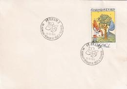 Czech Republic Czechoslovakia 1974 Cover: Atom Physics: Uranium Mines Pribram; Fauna Eule Owl Stamp - Physics