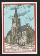 - FOUGEROLLES Du PLESSIS (53) L'Eglise - Renault 4 L  (illustrateur Ducourtioux) - Other Municipalities