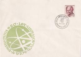 Czech Republic Czechoslovakia 1969 Cover: Atom Physics: Uranium Mines Pribram; - Physics