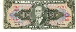 Brazil P.183a 1/10   Cruzeiros  1966 Unc - Brazil