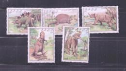 PREHISTORIC ANIMALS - SAHARA OCCIDENTALE - 1992 - DINOSAURS SET OF 5  MINT NEVER HINGED, - Timbres