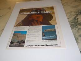 ANCIENNE PUBLICITE INOUBLIABLE  MAROC 1980 - Pubblicitari