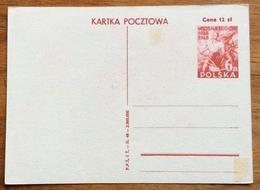 COSTUMI E DANZE POPOLARI  POLONIA  DOPISNICA CARTOLINA POSTALE PORT CARD 6 Zt / Cena 12 Zt -BUONE FESTE - 1945-1992 Repubblica Socialista Federale Di Jugoslavia