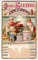 Très Rare Calendrier Publicitaire Cartonné Compagnie Liebig Avant 1900 Avec Roue Pour Définir Les Jours à Partir Dates - Liebig