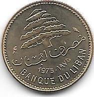*lebanon 5 Piastres 1975  Km 25.2  Bu/ms65 - Liban