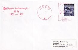 Norway 1982 Cover: Atom Physics: Norway Radium Hospital; Meter Ema Freistempel - Fisica