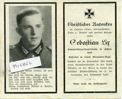 MOUSSON. 1944. Sterbebild Avis Décès Soldat Allemand - 1939-45