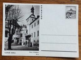 KUTNÁ HORA  DOPISNICE CARTOLINA POSTALE REPUBBLICA CECA 30 H - 1945-1992 Repubblica Socialista Federale Di Jugoslavia