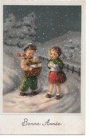 L60b291 - Bonne Année - Dessin D'enfants Mis En Scène - Facteur Apportant Le Courrier Sous La Neige - Saemee N°S/142 - Año Nuevo