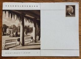 FRANTIŠKOVY LÁZNĚ  DOPISNICE CARTOLINA POSTALE REPUBBLICA CECA 1,20 - 1945-1992 Repubblica Socialista Federale Di Jugoslavia