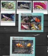 PAPUA NEW GUINEA, 2019, MNH,FISH, REEF FISH, LIONFISH, ANEMONEFISH, 4v+ SHEETLET +S/SHEET, HIGH FV - Poissons