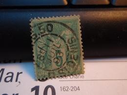 Timbre Sage  5 C Oblitéré. 1893 - 1876-1898 Sage (Type II)