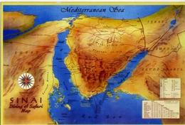 Sinai - Diving E Safari Map - Formato Grande Viaggiata – E 14 - Cartoline