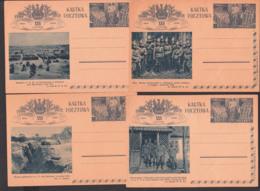 Polska Polen 4 Bildpostkarten Ungebraucht, Unused,  Motive 1914 - 1939 - 1919-1939 Repubblica