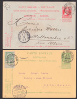 Belgie Belgien 2 Karten 1905, Dabei Perfin Lochungnach, GAND (STATION), ANVERS,  Rotterdam - 1905 Barba Grossa