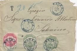 LETTRE. 9 MAI 1898. POSTE OTTOMANE. 40 PARAS. VOLOS POUR SALONICH - 1858-1921 Impero Ottomano