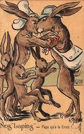 """ILLUSTRATEUR GRIFF. NOS """"LAPINS"""" PAPA QU'A LA CROIX ! ... 1919 - Andere Zeichner"""