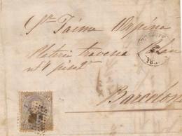 Año 1872 Edifil 122 12c Sello Amadeo I Carta Matasellos Rombo Manresa Barcelona - 1872-73 Reino: Amadeo I