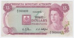 Bermuda 5 Dollars 1988 VF Pick 29d  29 D - Bermuda