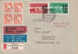 Suisse Lettre Recommandée Par Exprès 1937 - Poststempel
