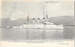 GUERRE RUSSO JAPONAISE Croiseur Cuirassé Marine Russe Le Peresviet - Guerre