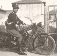 1929 Militaire Militare Italie Italia Italiano Uniforme Photo  Vera Foto Moto Monza?Alessandria - Auto's