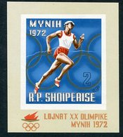 ALBANIA 1971 Olympic Games Block MNH / **,  Michel Block 42 - Albanie