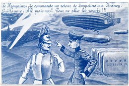 CPA   -  GUERRE 1914/1818  - HUMOUR   -  Le Konprinz , Guillaume Et Les Zeppelins  Circulé - - Humor