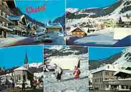 74 - Chatel - Multivues - Skieurs - Automobiles - Hiver - Neige - Flamme Postale - Voir Scans Recto-Verso - Châtel