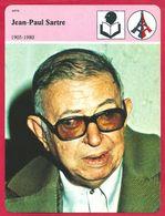 Jean Paul Sartre. Existentialisme. Philosophe. Romancier. Dramaturge. Engagé. 1905 1980. - Histoire