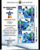 Olympics 2004 - Ice Hockey - SAN MARINO - S/S MNH - Hiver 2010: Vancouver