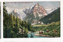 Tirol Trafoi Hotel Trafoi Gegen Den Ortier Vintage Old Postcard  Postkarte  Cow Animals Mountain - Altre Città