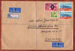 Ostafrikanische Gemeinschaft, Luftpost, Einschreiben Reco, Autofaehre U.a., Peramiho Nach Muenchen 1969 (88868) - Otros - África