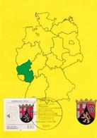 Germany Maximum Card 1993: Coat Of Arms; Wappen; Lion Löwe; Rheinland - Pfalz: Map Germany - Heraldik, Wappen