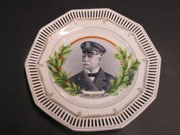 RARE PLAT PATRIOTIQUE ALLEMAND ( GRAF VON ZEPPELIN ) 1914 / 1917 !!! - 1914-18