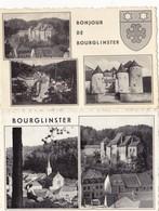 575/ 2x Bourglinster, Bonjour...stempel Junglinster 1961 - Cartes Postales