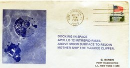 1996. USA. SPC. DOCKING IN SPACE. APOLLO 12 INTREPID RISES ABOVE MOON SURFACE TO REJOIN . - NTVG. - Usati