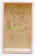 CDV DE 1873 - TERUEL PARIS - JUSTICE - TRIBUNAL - PROCES BAZAINE - PORTRAITS ET NOMS DE SES DEFENSEURS ET JUGES - Geïdentificeerde Personen