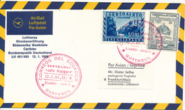 GUAYAQUIL  -  12.1.66   ,   Lufthansa  LH  491/493   -  Guayaquil / Ecuador - Frankfurt - Ecuador