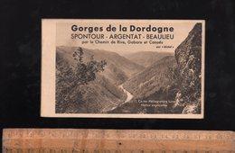 Carnet 12 Cp Gorges De La Dordogne En Corrèze SPONTOUR ARGENTAT BEAULIEU Par Le Chemin De Rive Gabare Et Canoës - Argentat