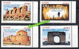 2019- Tunisia- Tunisie- Archeological Sites And Monuments- Sites Et Monuments Archéologiques- Complete Set 4v.MNH** - Tunisie (1956-...)